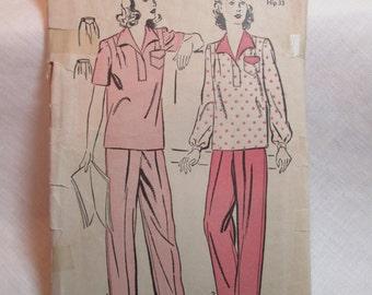 "Antique 1942 Advance Pattern #3091 - size 30"" Bust"