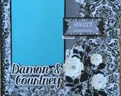 Custom Made Wedding Scrapbook Album, YOU CHOOSE COLORS, Personalized Wedding Album, Premade Wedding Scrapbook Album, Wedding Gift