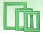 Picture Frame Picture Frame Set Shabby Chic Picture Frames Home Decor Rustic Picture Frame Green Nursery Wedding Wall Decor 3pc 8x10 5x7 4x6