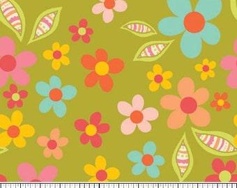 Sweet Nothings Green Sweet Floral by Zoe Pearn Designs for Riley Blake, 1/2 yard