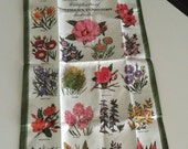 Wildflowers of Australia Linen Dish Towel/Heil Linen Towel/ Baker Souvenir/ Linen Towel Australia/ Designed by Heil/By Gatormom13