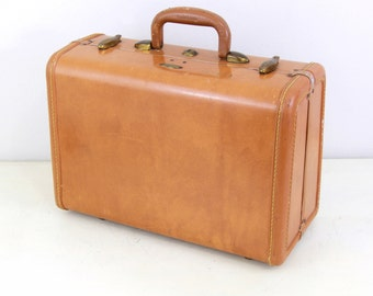 Vintage Samsonite Tan Color Medium Size Luggage, Vintage Luggage, Wedding Card Box,Home Decor, Office Decor,Item No 1594