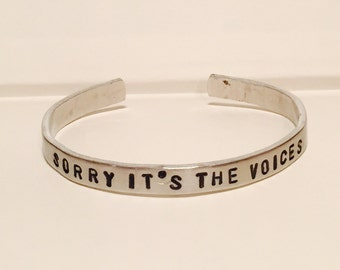 Harley Quinn Sorry It's the Voices bangle bracelet