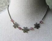 Triple Celtic Knot Purple Stone Necklace, Outlander Inspired, Scottish Jewelry, Irish Jewelry