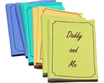 For Dad. Father's day gift. Daddy and me gift. Father's day. Gift for him. Small photo album. Brag book Linen photo album Script handwriting