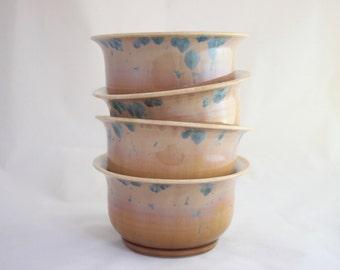 Dinner Bowls, Set of 4 - Prussian Crystalline