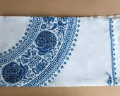 """Embroidered Linen 60"""" Square Tablecloth"""