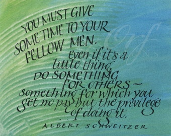 Give some time to your fellow men...Original art (#293) from 365 project (year 3)