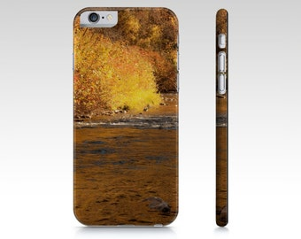 Landscape Phone Case - iPhone 5 5S 6 6S - Rustic Phone Case - iPad Mini Cover - Samsung Galaxy S4 S5 - Autumn Photography - Yellow and Brown