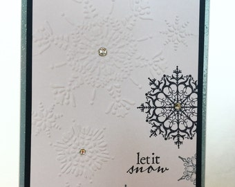Set of 4 Let it Snow Christmas Cards