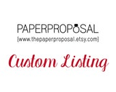 Custom Listing - Kate