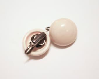 Beige Candydrop Clip Earrings