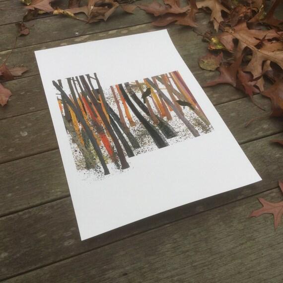 Watercolor art print Bird Art print rustic home decor giclee print gift for man