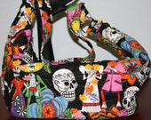Hobo Style Purse Day of Dead