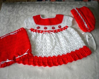 Holiday 3 Piece Dress Set for 12 to 18 Months