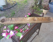 "38"" Long  Dough Bowl, Natural, Hand Carved, Solid Wood, Rustic, Farmhouse"