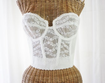 Young Smoothie Lace Bustier Bridal White Unworn