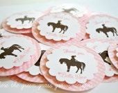 Pony Tags Light Pink and White Gingham