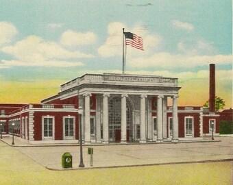 GREENSBORO North Carolina Southern Railway Station – Unused Vintage Train Station Postcard