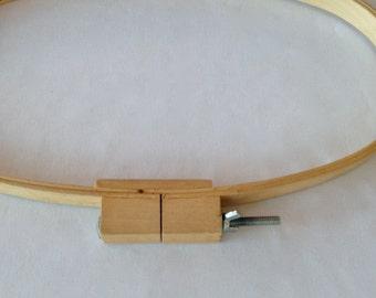"Wooden Quilt Hoop - Oval - 8-1/2"" x 15"" x 7/8"" deep"