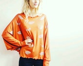 Terracotta Silver Leaves Hand Printed Tunic