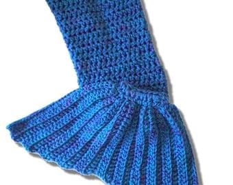 Crochet Mermaid Blanket Afghan Teenager - Adult