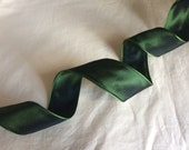 "Moss Green Wired Taffeta Ribbon. 1.5""/ 4 cm wide. Sold by the metre"