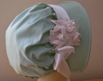 CUSTOM Regency Bonnet. Jane Austen. Square Brim. 'JANE' Your choice of colour/fabric/trims.