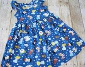 Cinderella Dress.  Girls Princess all Knit Lap Dress. Made to order.