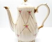 Vintage Pink Rose  Sadler  Teapot