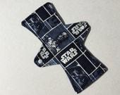 10 Inch Cloth Menstrual Pad Regular Flow Cotton Fleece Blue Star Wars