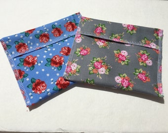Reusable Snack Bag Set of Two Vintage Floral Eco Friendly