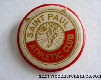 "Antique Saint Paul Athletic Club  Pinback  Button Large 3"" Pin  Original"
