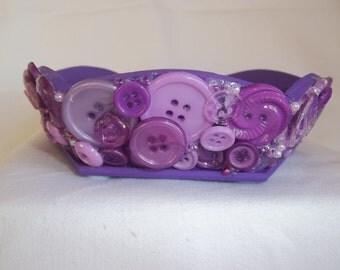 Purple Button Trinket Dish