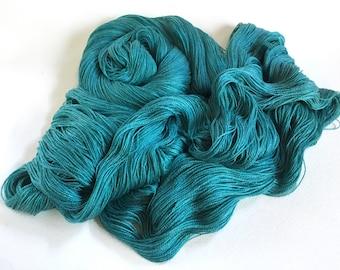 Leah. Silk / Cotton Lace Yarn. Deep Sea