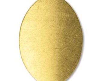 Brass Oval Stamping Blank