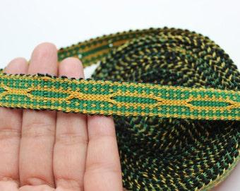 Uzbek color woven trim Jiyak. Ethnic Boho trim