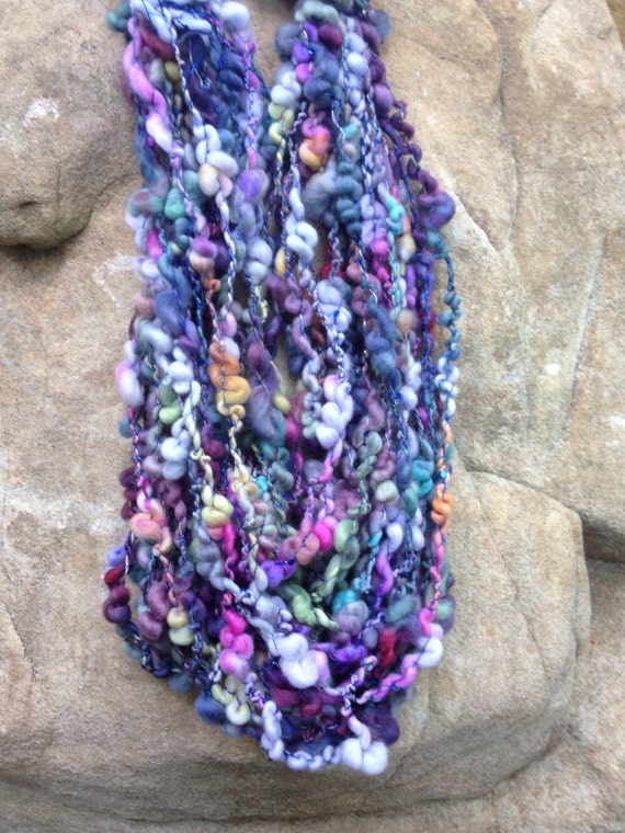 Handspun Art Yarn - Recesses Of The Heart