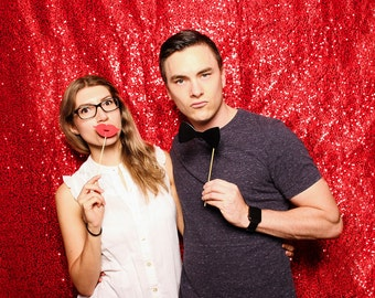 Ruby Red Sequin Photography Backdrop/Photo Booth Backdrop