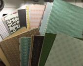 DESTASH webster's pages, fancy pants, peebles, and lots more misc. 6x6 designer sheets of paper