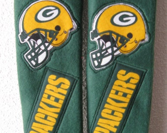Green Bay Packer, seat belt covers (setof two)