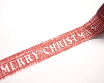 SALE Red Merry Christmas Washi Tape 15mm x 10m WT235