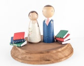 Book Themed Wedding - book cake toppers - book themed - book pages - vintage wedding - storybook wedding - vintage wedding cake topper