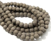 Unfinished Graywood Bead, 8mm, Round, Small, Natural Wood Bead, 16 Inch Strand - ID 2162