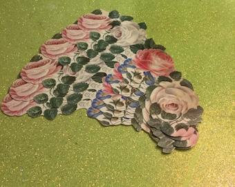 Set Of 24 Vintage Floral Pattern Paper Napkin Rings