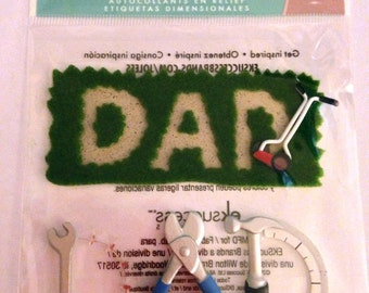 Jolee's Boutique --  Dad --  dimensional stickers -- NEW  --  (#1823)