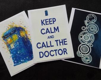 Dr Who Card Trio