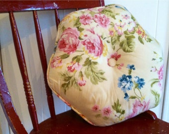 Vintage yellow floral Cottage pillow
