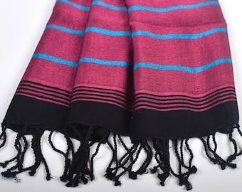 FREE SHIPPING, bamboo & silk towel, water absorbent, turkish beach towel, luxurious, handwoven, bath towel, high quality, tablecloth, fouta