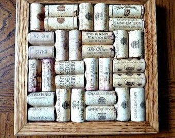 Wine Cork Board Trivet  8 by 8 Wine Collector's Gift Repurposed Recycled